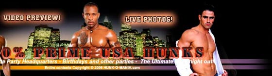 male strippers BACHELORETTE PARTIES and male revue in New York, New Jersey, Connecticut
